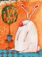"""Раскраска по номерам """"Счастливый кролик"""" (300х400 мм)"""