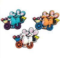"Магнит на холодильник ""Мышки на велосипеде"" (арт. BY83321)"