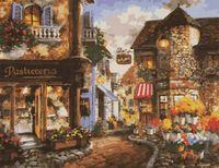 """Картина по номерам """"Милая европейская улица"""" (400x500 мм)"""