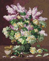 """Картина по номерам """"Сирень и английские розы"""" (400х500 мм)"""