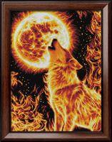 """Алмазная вышивка-мозаика """"Огненный волк"""" (300х400 мм)"""