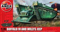 """Набор техники """"Buffalo IV and Willys Jeep"""" (масштаб: 1/76)"""