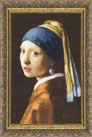 """Вышивка крестом """"Девушка с жемчужной сережкой"""" (382х242 мм)"""