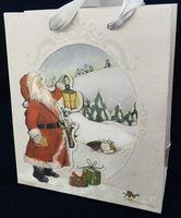 "Пакет бумажный подарочный ""Дед Мороз"" (33х43х10 см)"
