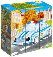 """Кубики с картинками """"Машинки"""" (9 шт)"""
