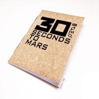 """Блокнот крафт """"30 seconds to Mars"""" А7 (арт. 030)"""