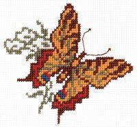 """Вышивка крестом """"Бабочка """" (арт. С336)"""