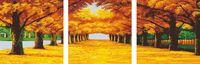 """Картина по номерам """"Осенняя аллея"""" (триптих; 500х500 мм)"""