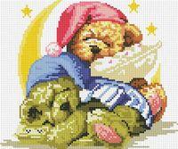 """Алмазная вышивка-мозаика """"Два медвежонка"""" (300х300 мм)"""
