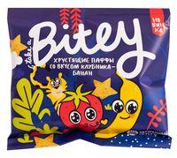 """Печенье детское """"Bitey. Паффы клубнично-банановые"""" (20 г)"""