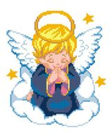 """Вышивка крестом """"Ангел"""""""