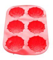 Форма силиконовая для выпекания кексов (275x180x30 мм; красная)