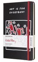 """Записная книжка Молескин """"Keith Haring"""" в линейку (А5; черная)"""