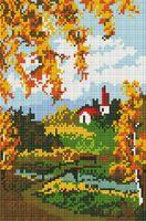 "Алмазная вышивка-мозаика ""Осенний пейзаж"" (200х300 мм)"