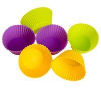 Форма силиконовая для выпекания кексов (6 шт.; 70х45х38 мм)