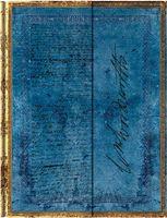 """Записная книжка Paperblanks """"Вордсворт. Письмо с цитатой из """"Желтых нарциссов` в линейку (формат: 100*140 мм, мини)"""