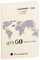 "Обложка на паспорт ""Lets Go France"""