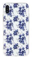 "Чехол для iPhone X/XS ""Синие цветы"" (синий)"