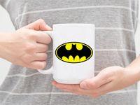 """Кружка большая белая """"Бэтмен"""" (арт. 596)"""