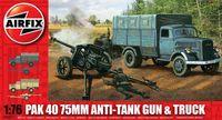 """Набор техники """"PaK 40 75mm Anti-Tank Gun & Truck"""" (масштаб: 1/76)"""