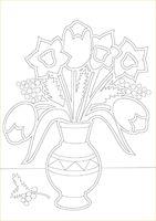 """Трафарет для рисования песком """"Цветы №2"""" (А4)"""