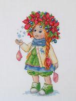"Вышивка крестом ""Зимняя девочка"" (230х140 мм)"
