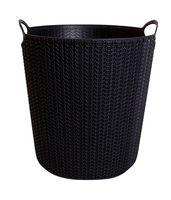 """Ведро для мусора пластмассовое """"Вязание"""" (10 л; черное)"""