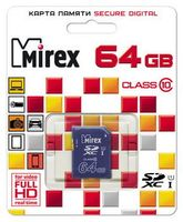 Карта памяти SDXC 64Gb Mirex Class 10 UHS-I