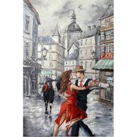 """Алмазная вышивка-мозаика """"Танго в городе"""" (400x600 мм)"""