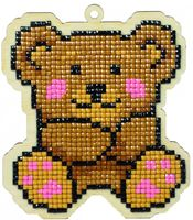 "Алмазная вышивка-мозаика ""Брелок. Тедди"" (96х112 мм)"