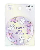 """Зеркало карманное """"Bunny and unicorn"""""""