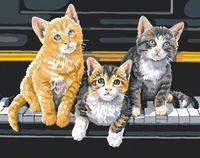"""Картина по номерам """"Котята на рояле"""" (400x500 мм; арт. MG252)"""