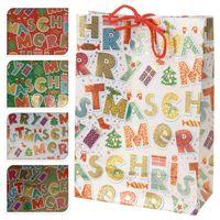 """Пакет бумажный подарочный """"Merry Christmas"""" (в ассортименте; 16х18х6 см; арт. ABD600300)"""