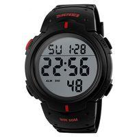 Часы наручные (чёрно-красные; арт. SKMEI 1068-2)