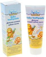 Зубная паста детская гелевая со вкусом апельсина (75 мл)