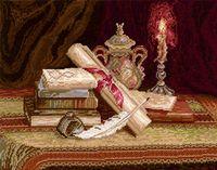 """Вышивка крестом """"Ночная поэма"""" (370x280 мм)"""