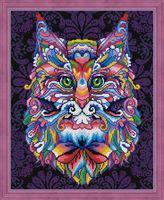 """Алмазная вышивка-мозаика """"Мистический кот"""" (400х500 мм)"""