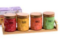 Набор банок для сыпучих продуктов (5 предметов; арт. 25561255)