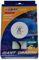 """Мячи для настольного тенниса """"Super"""" (6 шт.; 3 звезды; арт. 0000003118)"""
