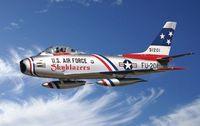 """Истребитель """"F-86F Sabre Jet"""" (масштаб: 1/48)"""