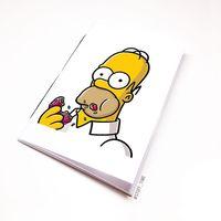 "Блокнот белый ""Гомер Симпсон"" А5 (арт. 002)"