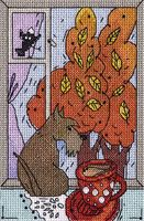 "Вышивка крестом ""Осень за окошком"""