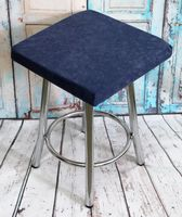 "Подушка на стул ""Velours Cuadro"" (33х33 см; серо-голубая)"