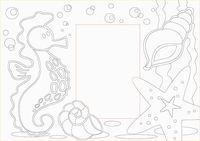 """Трафарет для рисования песком """"Фоторамка. Морская"""" (А4 см)"""