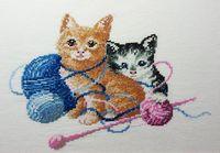 """Вышивка крестом """"Котята в клубках"""""""