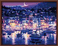 """Картина по номерам """"Ночная пристань"""" (400х500 мм)"""