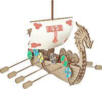 """Сборная деревянная модель """"Корабль викингов Драккар"""""""