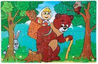 """Пазл мягкий """"Маша и медведь"""" (24 элемента)"""