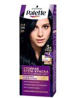 """Крем-краска для волос """"Интенсивный цвет"""" тон: 1-1, иссиня-черный"""
