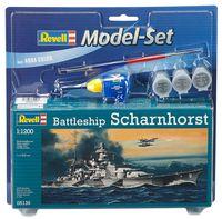 """Сборная модель """"Немецкий линкор Scharnhorst"""" (масштаб: 1/1200)"""